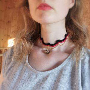 crochet choker necklace with chain