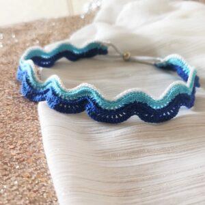crochet sea waves headband