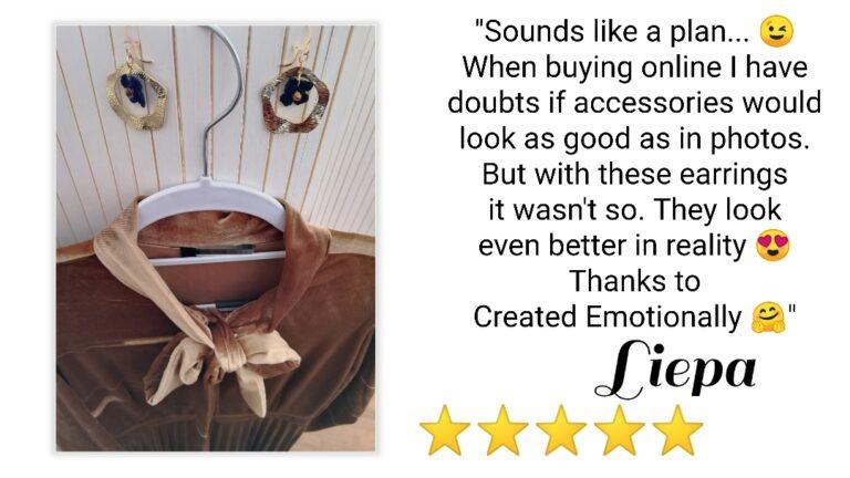 review handmade earrings
